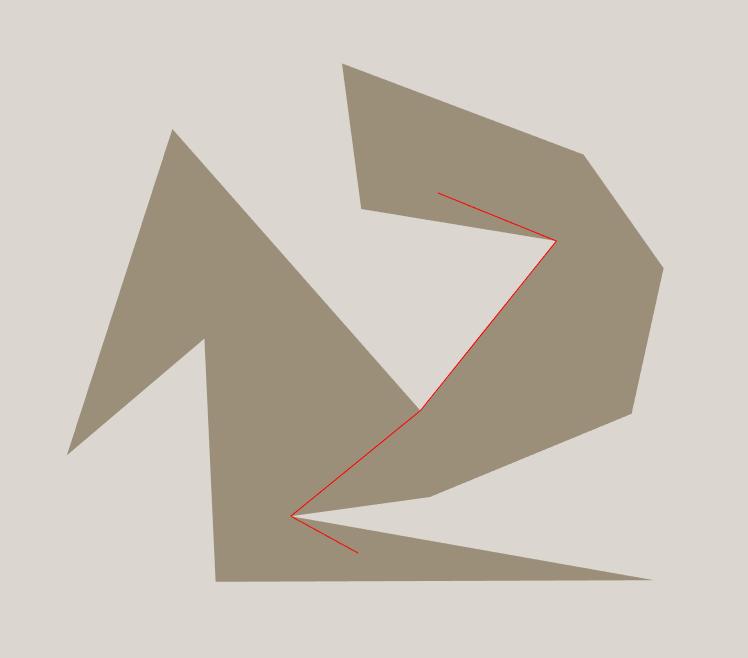 Non-colliding distance heuristic